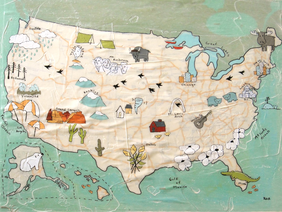 US Kids Map Paper Planes - Us paper map