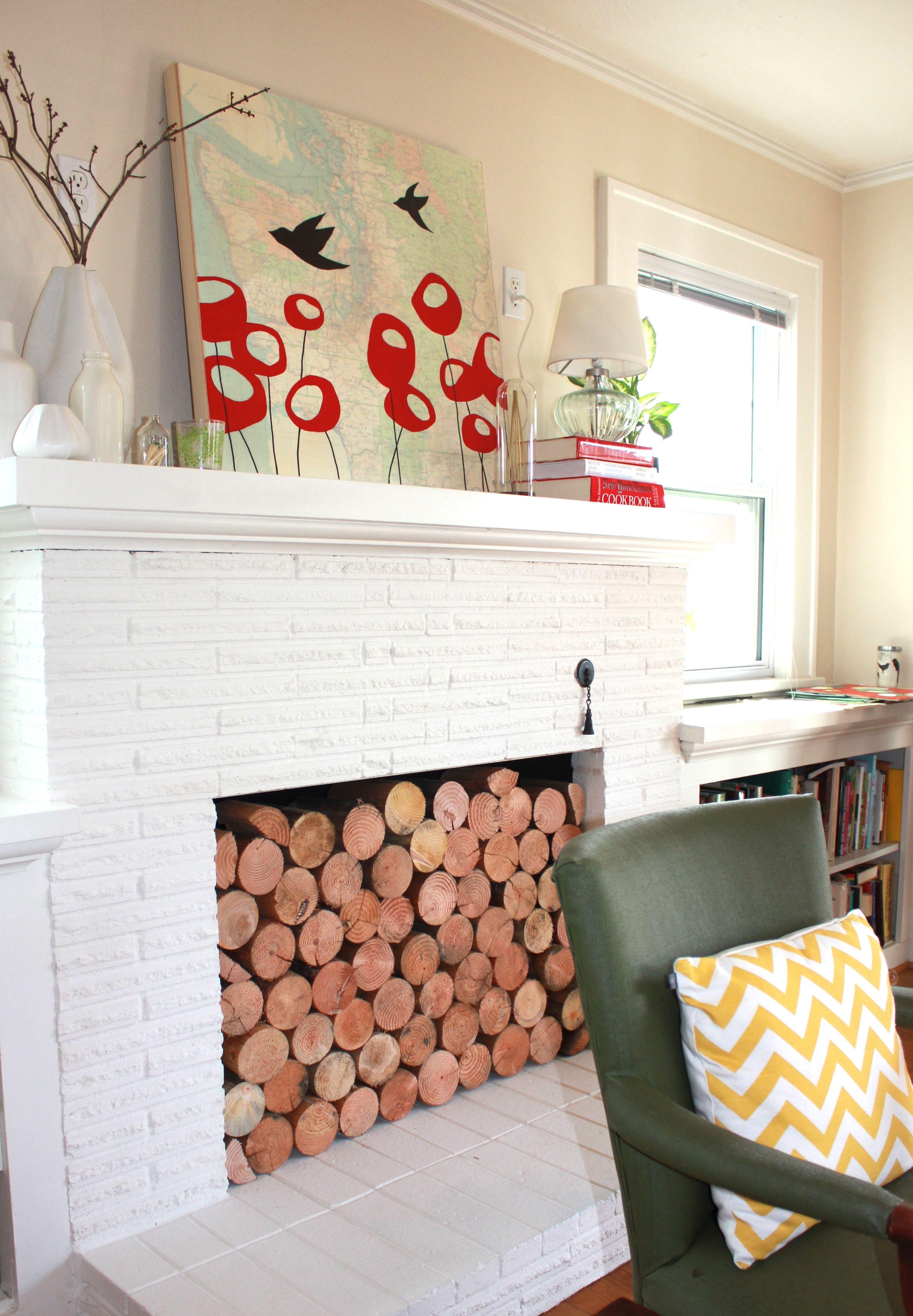 unused fireplace ideas paper planes
