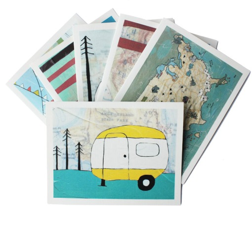 Campers notecard set